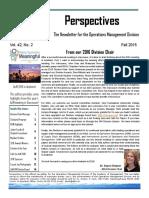 AOM OM Division Fall 2015 Vol 42 Issue 2