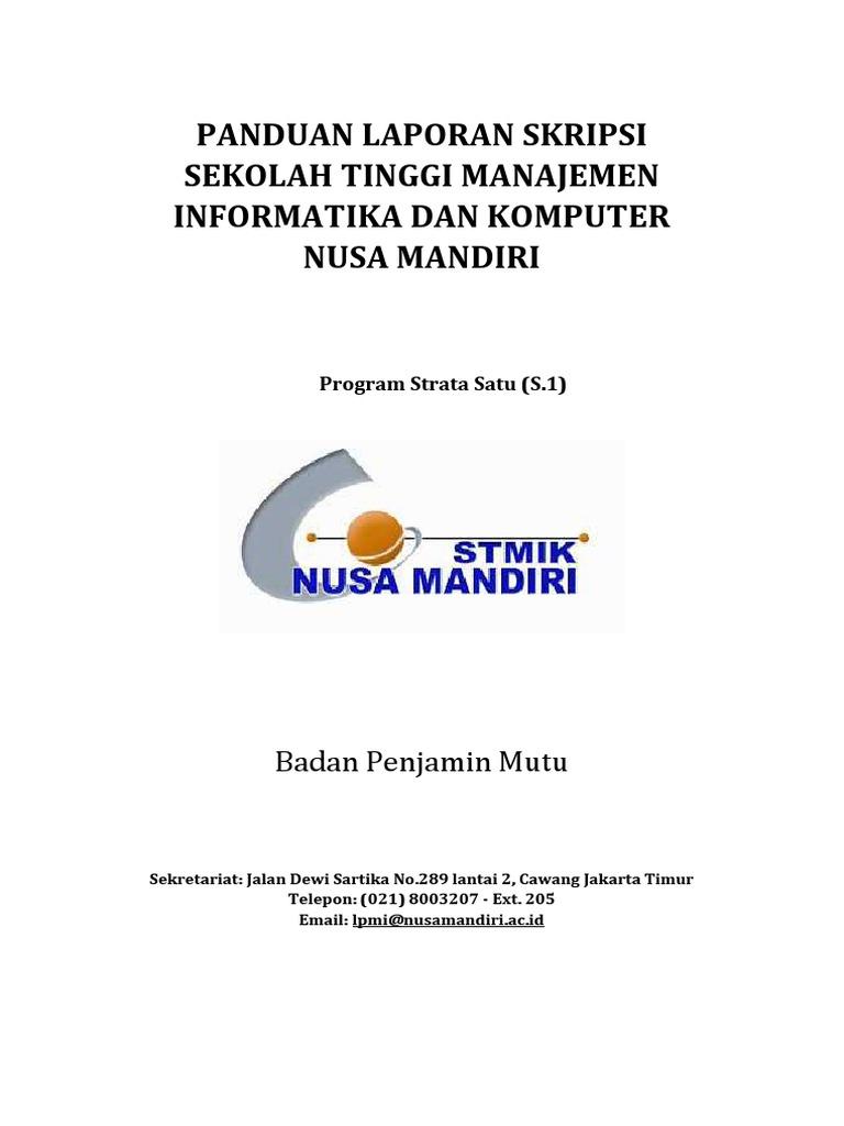 Panduan Skripsi Stmik Nusa Mandiri Rev2016