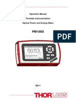 ThORLABS PM100D Power Meter Operation Manual