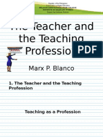 MA -The Teacher and the Teaching Profession