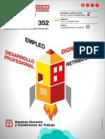 TE 352. Empleo, dignidad, desarrollo profesional y retribuciones