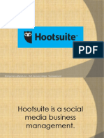 Broadcast your single message in multiple social networks in Hootsuite