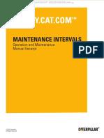 Manual Maintenance Interval Cat 416d 420d 42d 428d 430d 432d 442d Backhoe Loaders