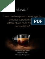 Sebastiaan Debrouwere - Nespresso Marketing Report