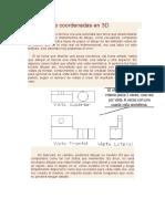 El Sistema de Coordenadas en 3D