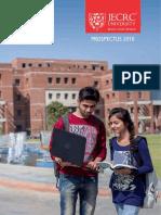 JECRC University Prospectus 2016