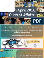 26 April 2016 Current Affair for Competition Exams