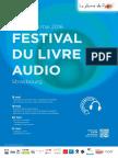 Programme du Festival du Livre Audio de Strasbourg 2016