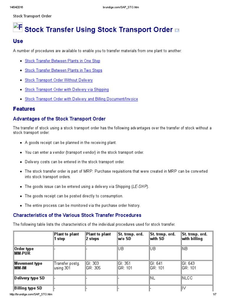 SAP STO | Invoice | Receipt