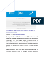 Cnt Empresa Líder en Convergencia Digital Presente en Emtech Ecuador 2015