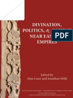 Alan Lenzi - Jonathan Stökl. Divination, Politics and Ancient Near Eastern Empires