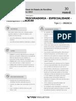 PGE Analista Da Procuradoria - Especialidade - Relacoes Publicas (AP-REL) Tipo 1