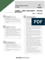 TJ PI Analista Judiciario - Area Judiciaria - Oficial de Justica e Avaliador (JUD-OfJ) Tipo 1