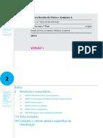 2011 Física e Química a 1.a Fase Resolução Comentada Para Projecção