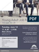 Young Adult Job Fair Flier