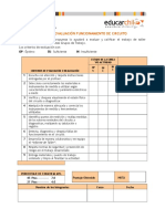 Pauta de Evaluacion Funcionamiento de Circuito