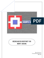 Research Report on HDFC Bank - An investor's perspective.