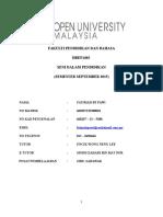 Assignment Seni Dlm Pendidikan Sem Sept 2015