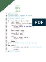 1 - Função Inserir Elemento No Início Da Lista.cpp