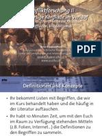 Int. Konfliktforschung II - Woche 10 - Transnationale Prozesse - Diffusion, Irredentismus (Übung)