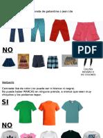 Vestuario Si y No