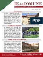 Notizie Dal Comune di Borgomanero del 28 Aprile 2016