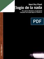Elogio de La Nada - Henry Rey Flaud