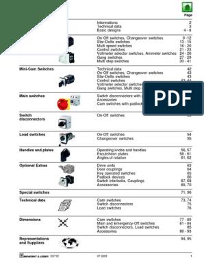 B&J-USA-Cam-Switches.pdf | Switch | Equipment on