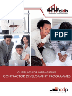 Guidelines for Implementing Contractor Development Programmes