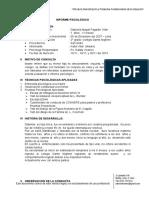 Informe Psicologico Gabriela Pastor