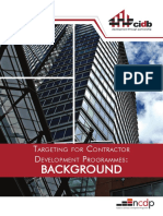 Targeting for Contractor Development Programmes - Background