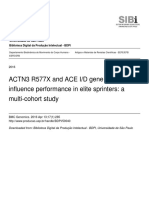 ACTN3 R577X and ACE I/D gene variants influence performance in elite sprinters