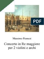Concerto in Re Maggiore Per 2 Violini e Archi