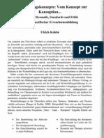 Weiterbildungskonzepte - Struktur, Dynamik, Standards und Ethik vollzugsspezifischer Erwachsenenbildung. (2005)