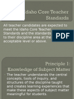 idaho core teacher standards and danielson framework