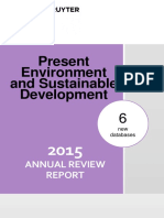 Present Environment and Sustainable Development - Annual Review Report 2015