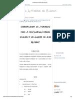 Contaminacion Ambiental en Huaraz