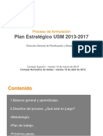 Formulacion Plan EstBrategico 2013 2017