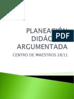 Planeación Didáctica Argumentada Cm2811