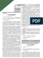 AMBIENTE RESOLUCION MINISTERIAL N 098-2016-MINAM