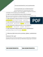 Cuestionario de Macronutrimentos y Micronutrimentos