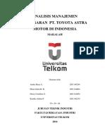 Manajemen Pemasaran PT. Toyota Astra Motor