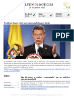 Boletín de noticias KLR 28ABR2016