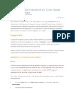 Importar en Excel Desde Distintas Fuentes