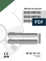 Manuale Samsung DVD-HR753-755-758
