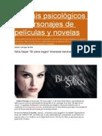 Análisis Psicológicos de Personajes de Películas y Novelas