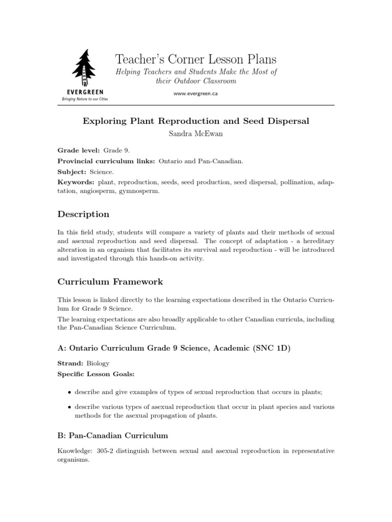 Gymnosperms asexual reproduction worksheet