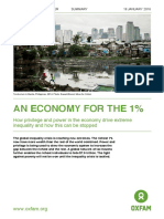 Oxfam an Economy for the 1% Summary