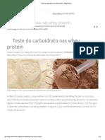 Teste Do Carboidrato Nas Whey Protein - Blog Nutriva