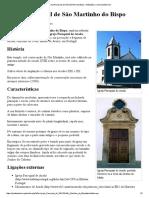 Igreja Paroquial de São Martinho Do Bispo. O Culto e a Tradição